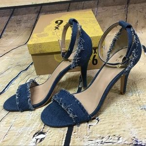 47033d2a2987 Mix No. 6 Shoes - NIB Mix No. 6 Pavia Denim Ankle Strap Heels